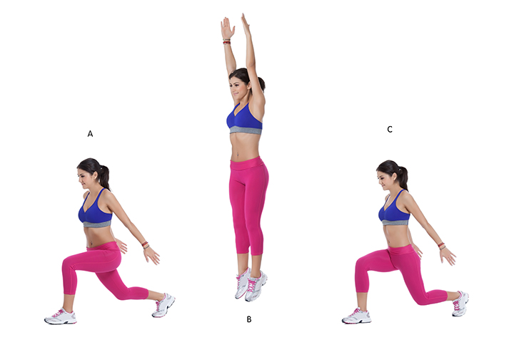 jumping lunges for fat burn