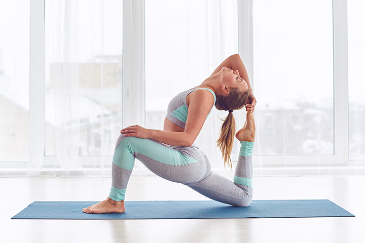king pigeon pose for sciatica