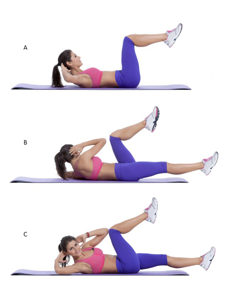 knee to elbow crunches for abs