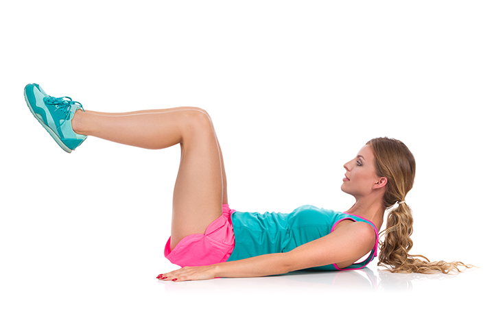leg extension crunch for belly fat