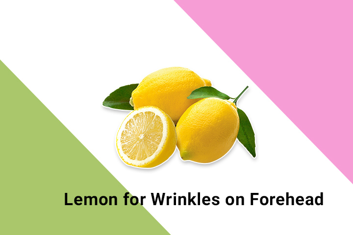 lemon for wrinkles on forehead