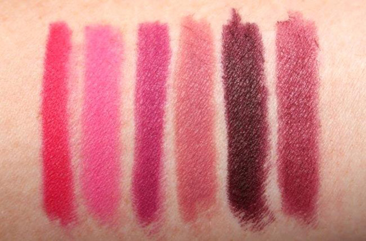 lip pencil swatches