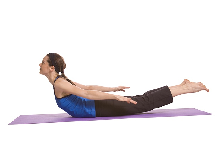 locust pose for colon cleansing