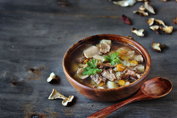 mushroom and kidney bean soup