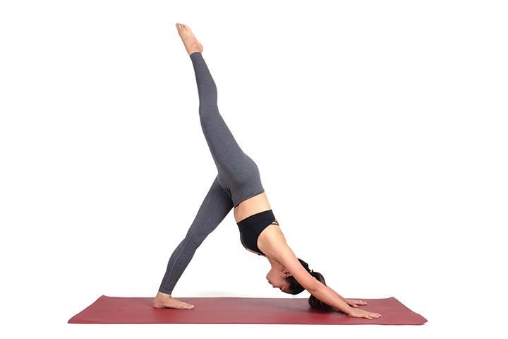 one legged down dog pose for body detox