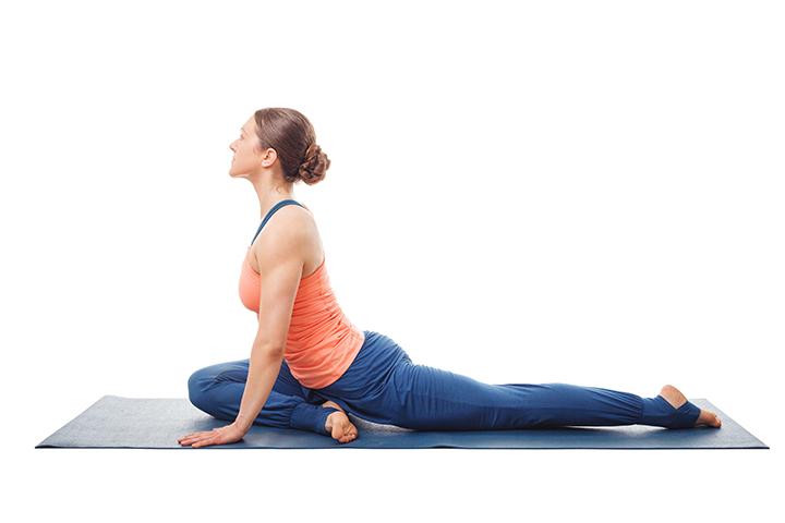 pigeon pose for weight loss