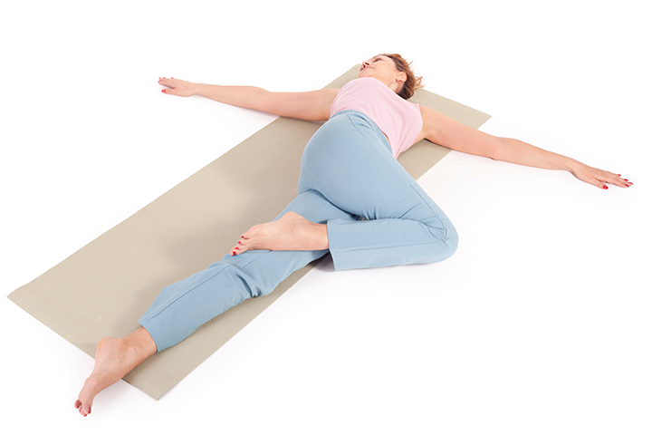 prone torso twist for sciatica