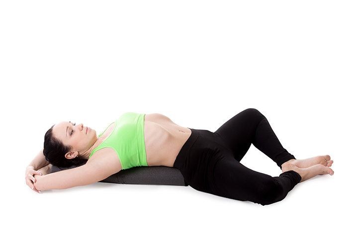 reclining bound angle pose for diabetes