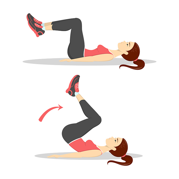 reverse crunches for core strength