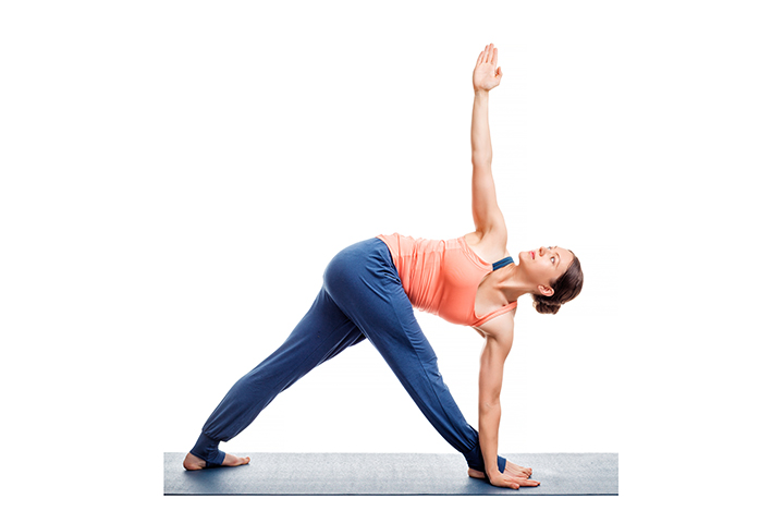 revolved triangle pose for osteoporosis