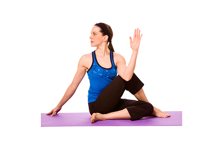 seated spinal twist for colon cleansing