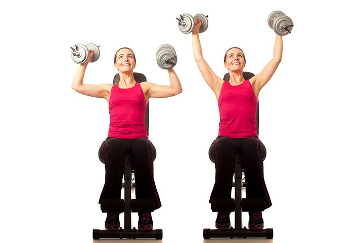 shoulder press for bra fat