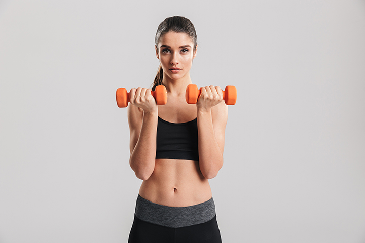 standing exercises for back fat