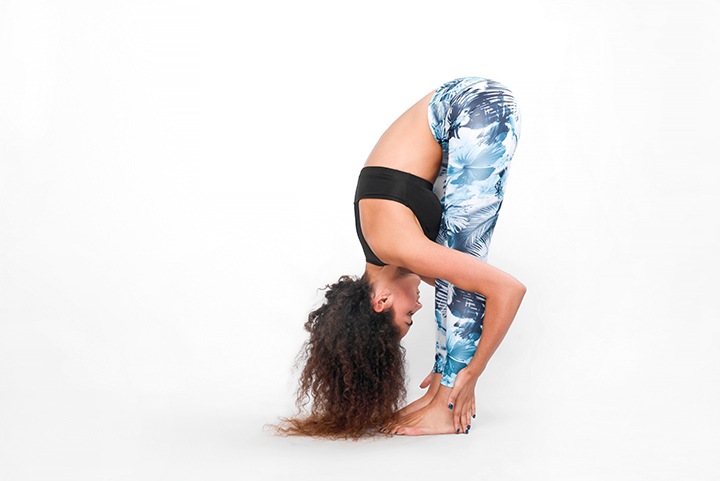 standing forward bend pose for insomnia