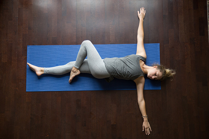 supine spinal twist yoga pose for diabetes