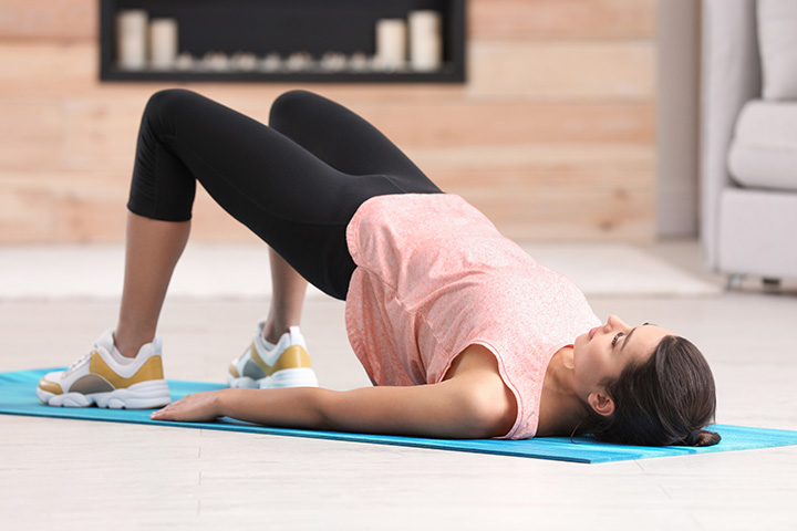 supported bridge pose for adrenal fatigue