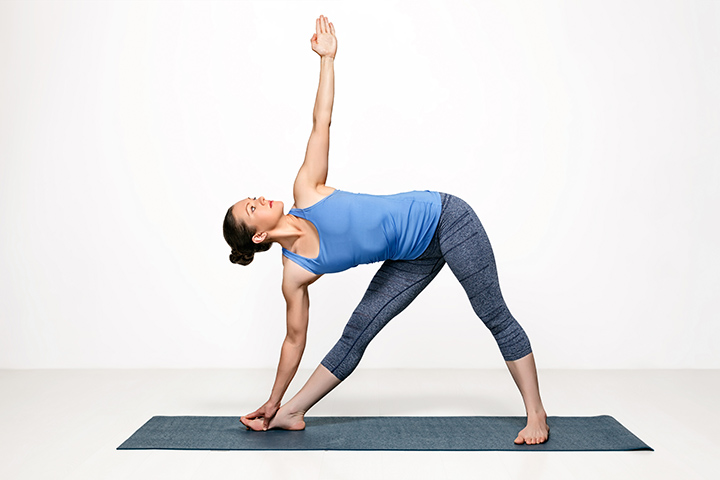 trianagle pose for osteoporosis