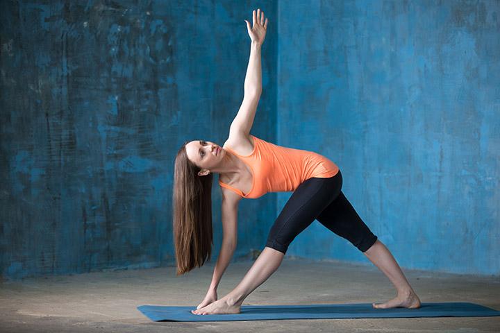 triangle pose for arthritis