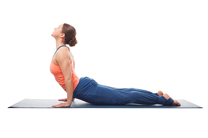 upward facing dog pose for arms