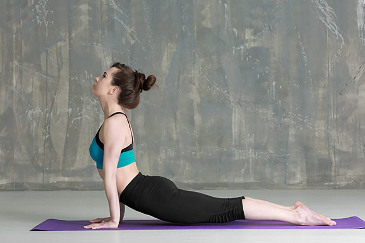 upward facing dog pose for depression