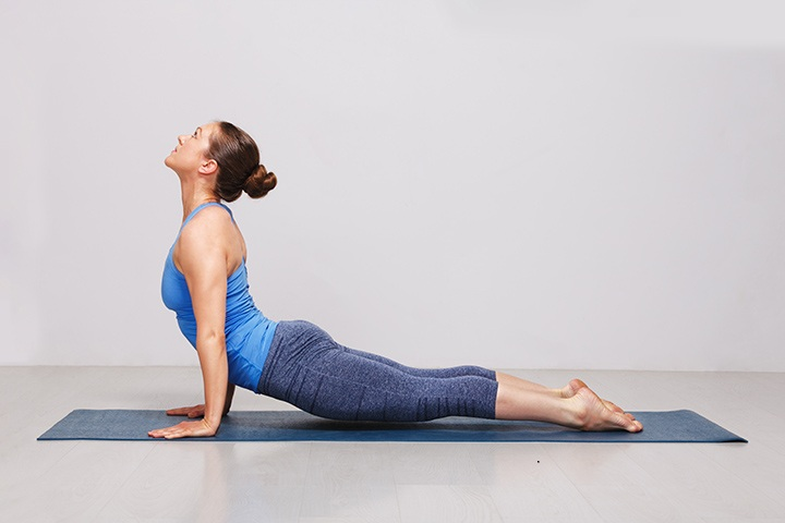 upward facing dog pose for strong core