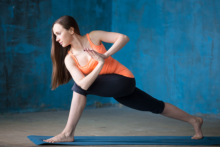warrior twist pose for abs