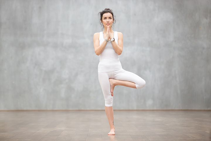 tree pose for height