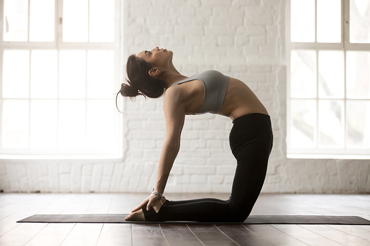 camel pose for increasing height
