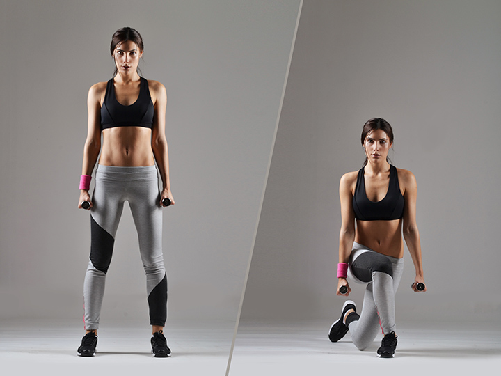 curtsy lunge leg workout