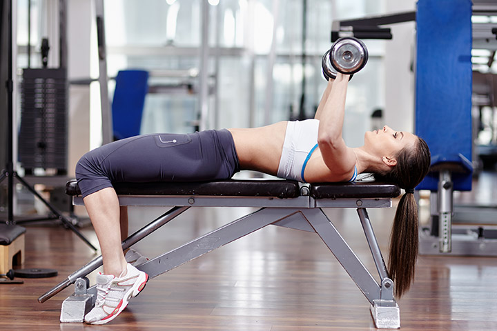 dumbbell bench press for arms