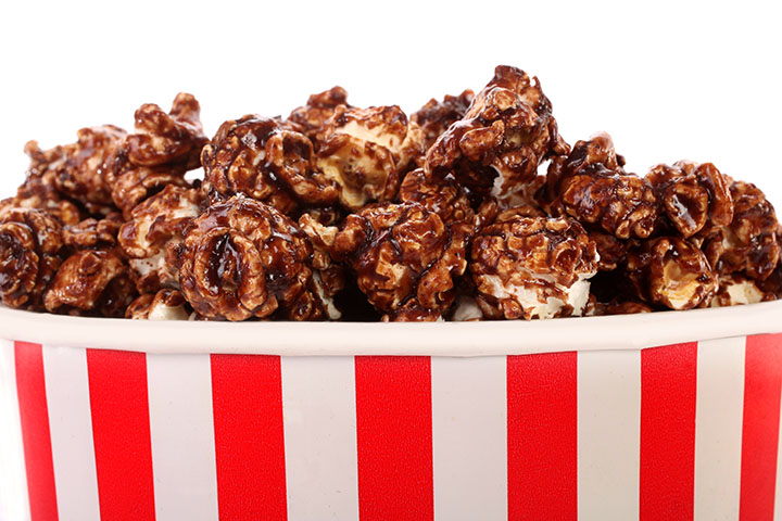 low calorie chocolate popcorn