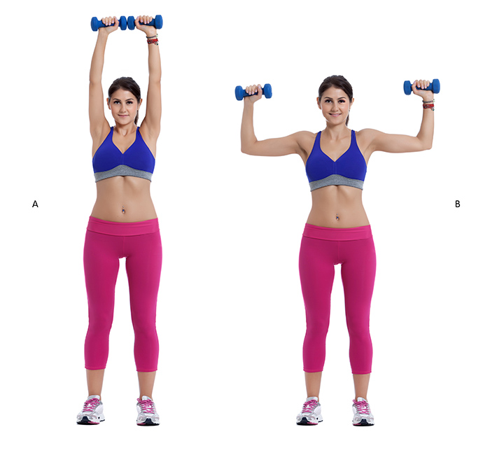 overhead shoulder press dumbbell