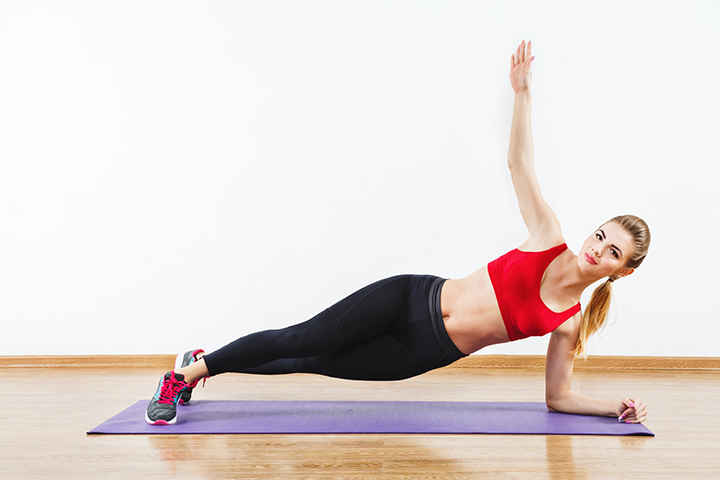 side plank for lower belly fat