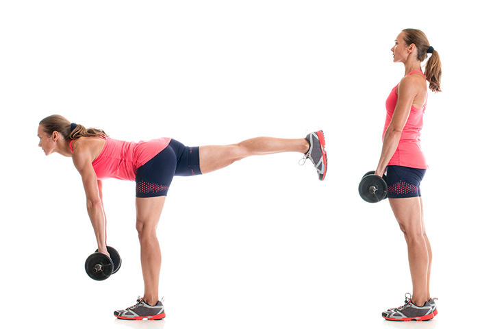 single leg deadlift for glutes