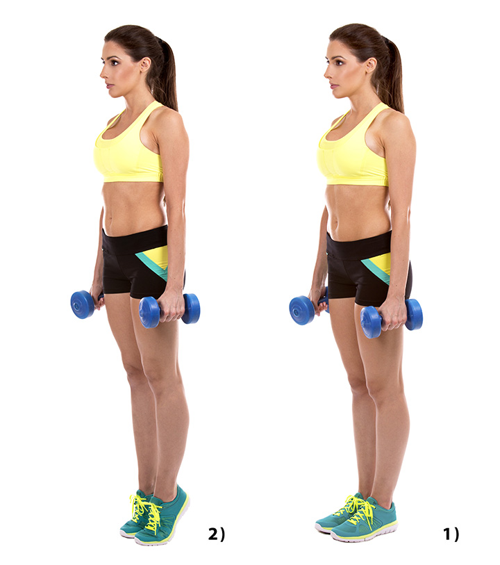 standing calf raise leg exercise