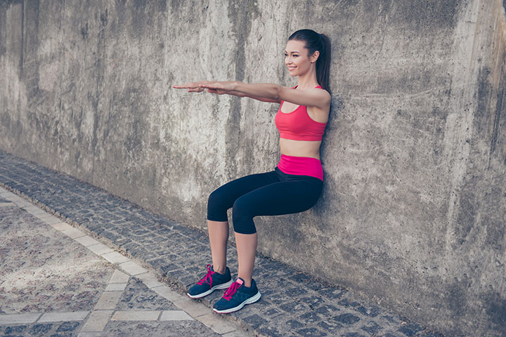 wall sit leg workout