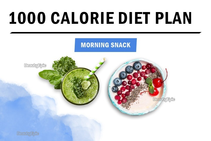 1000 calorie morning snack idea