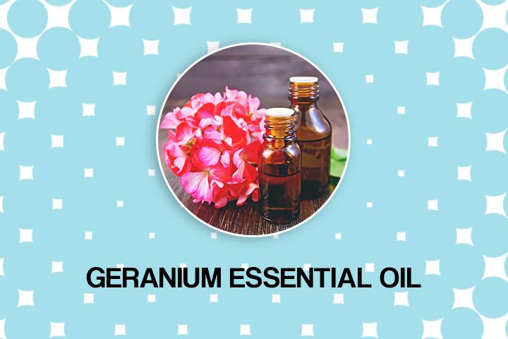 geranium essential oil for dry hair