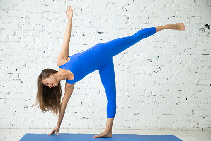 half moon pose for back fat