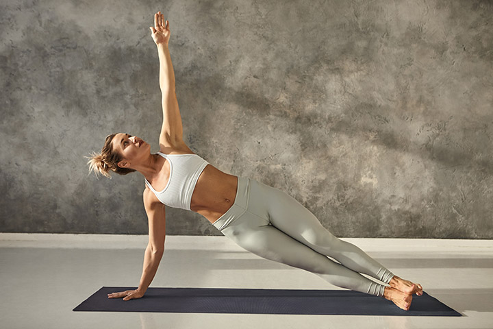 side plank pose for back fat