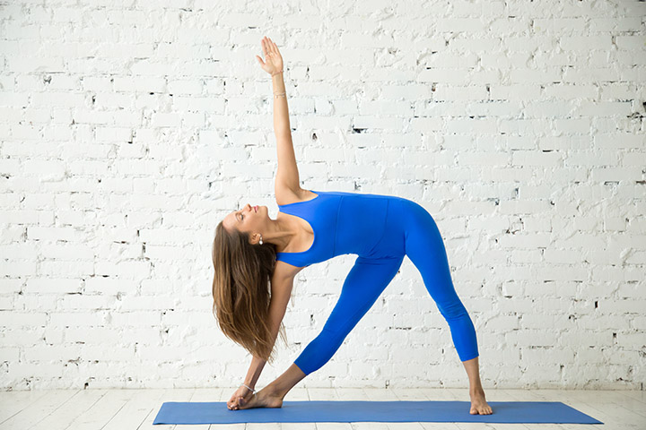 triangle pose for back fat