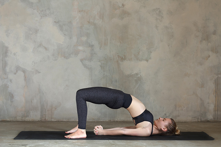 bridge pose for swimmers