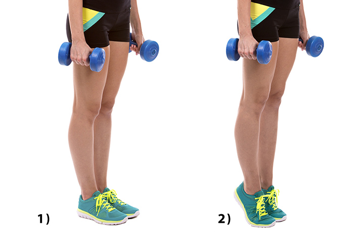 calf raises to tone legs
