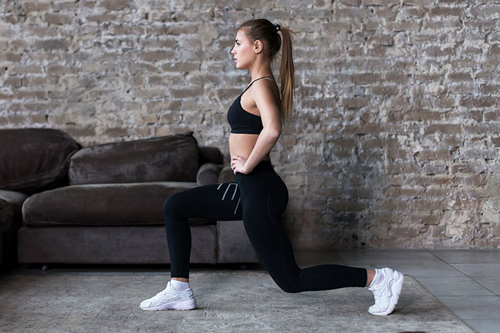classic lunge for tone legs