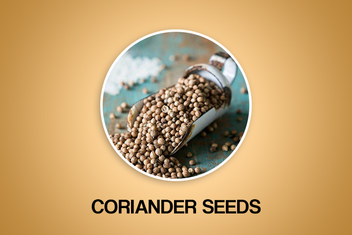 coriander seeds to get periods