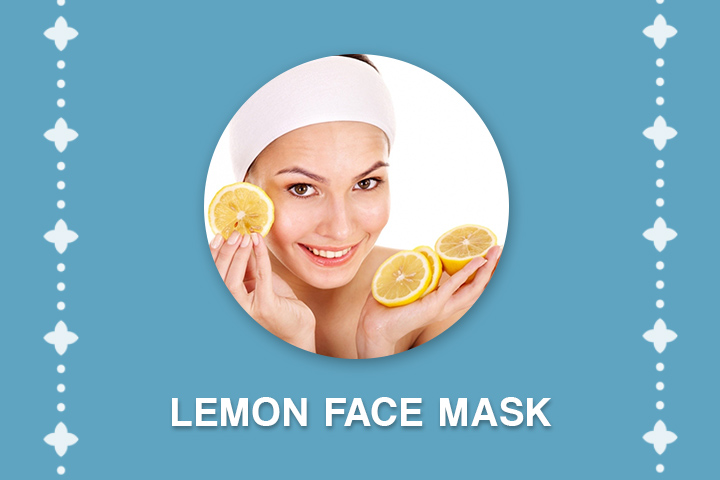 lemon face mask for acne scars