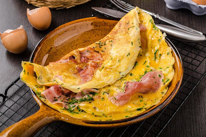 low calorie ham omelette