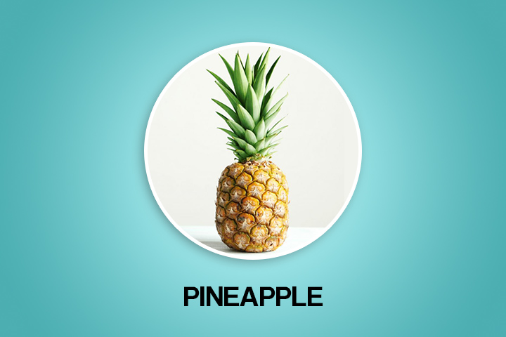 pineapple helps to get periods