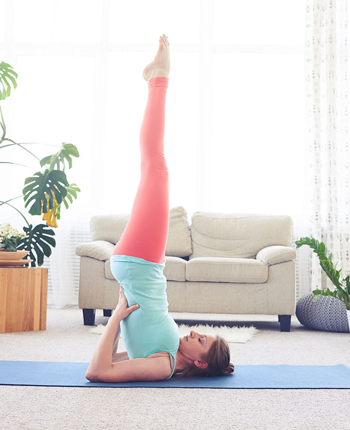 shoulder stand pose to boost fertility