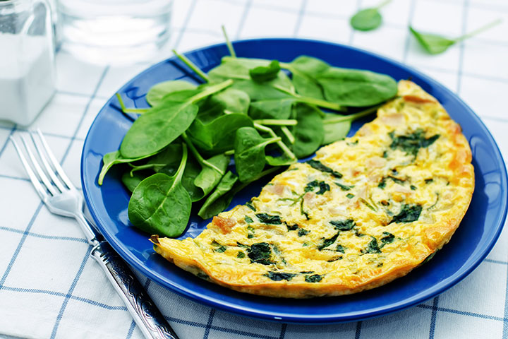spinach omelette low calorie breakfast